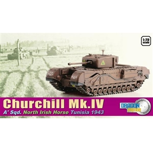 Dragon Armor 1/72 Churchill Mk. IV, A' Sqd. North Irish Horse, Tunisia 1943 (60503)