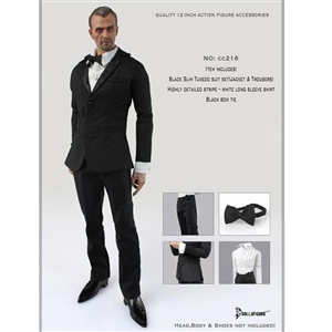 Clothing Set: Dollsfigure Black Slim Tuxedo Set (CC216)
