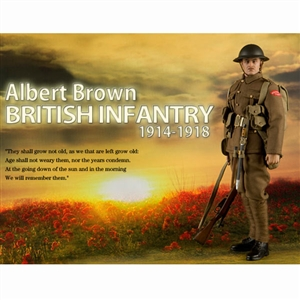 Boxed Figure: DiD Albert Brown British Infantry (B11001)