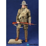 Boxed Figure: DiD WWI American Infantryman of Expeditionary Force 1917 - Buck Jones (A11009)