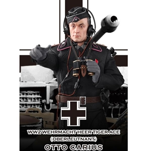 Boxed Figure: DiD Wehrmacht Heer Tiger Ace Otto Carius - Standard Ver. (80117G)
