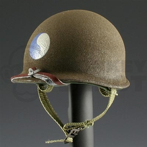 Helmet DiD US WWII M1 Metal Texture 29th Infantry Marked