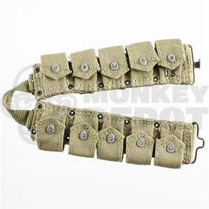 Belt DiD US WWII M1923 Garand Cartridge Belt
