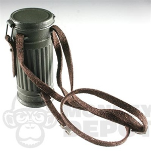 Gas Mask DiD German WWII Canister Suede Sling Real Metal