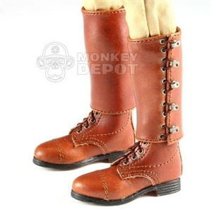 Boots DiD British WWII Officer Leather Leggings