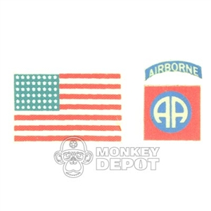 Insignia DiD US WWII 82nd Airborne Patch and Flag