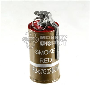 Grenade DiD US WWII Smoke Canister Red
