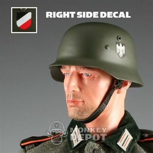 Helmet: DiD German WWII M35 Heer Double Decal