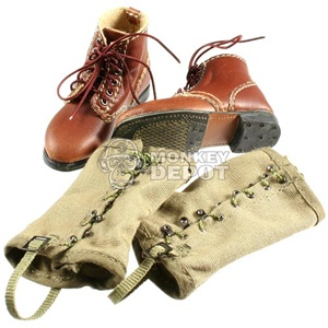 Boots: DID US WWII Service Shoes w/Leggings (Russell)