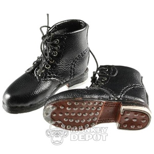 Boots: DiD German WWII Short Black Lace Up