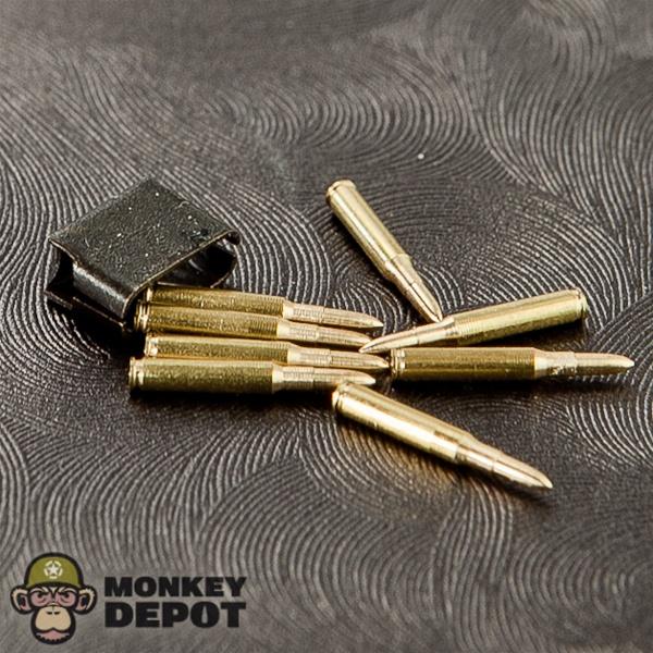 Monkey Depot - Ammo: DiD US WWII M1 Garand Clip w/Bullets