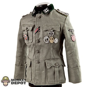 Tunic: DiD German WWII SS Handschar Officer w/Medals
