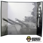Display: DiD B&W WWII Battleship Backdrop (22in X 14in)