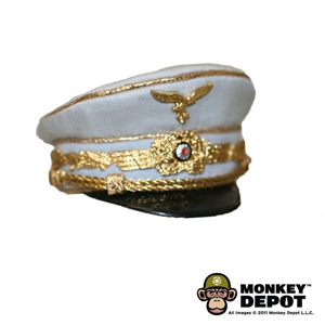 Hat: DiD German WWII Luftwaffe Officer Visor Cap Light Blue