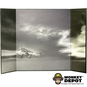 Display: DiD B&W WWII Airfield Backdrop 1 (22in X 14in)
