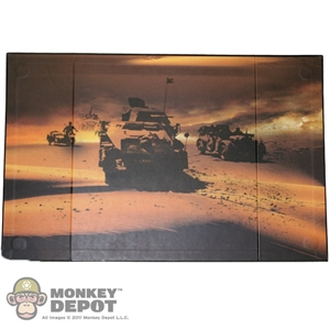 Display: DiD B&W WWII Desert Tanks Backdrop (21in X 13.5in)