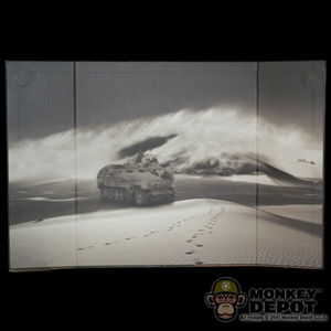 Display: DiD B&W WWII Desert Sandstorm Backdrop (21in X 13.5in)