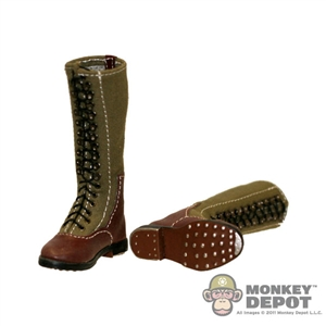 Boots: DiD German WWII Tropical Tall Lace Up