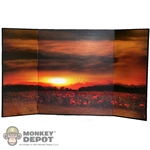 Display: DiD Sunset Over Poppy Field Backdrop
