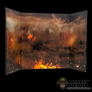 Display: DiD WWI Burning Battlefield (20.75in X 13.5in)