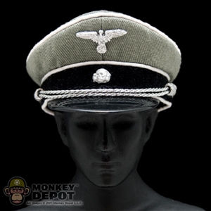 Hat: DiD German WWII SS Officer Visor Gray