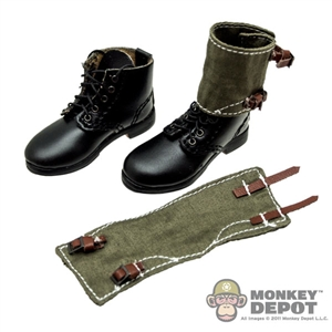 Boots DiD German WWII Short Black w/Gaiters