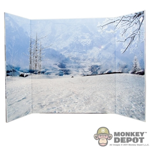 "Display: DiD Snow Field Backdrop (21"" X 13.5"")"