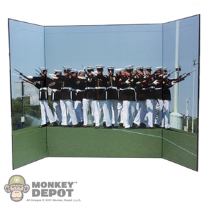 "Display: DiD Dress Blue Marines Backdrop (21"" X 13.5"")"