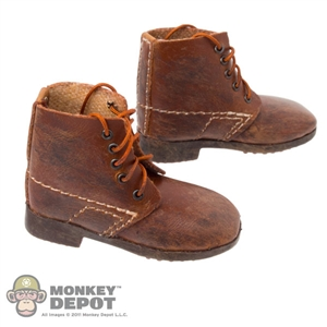 Boots: DiD French WWI Brown Boots (Weathered)
