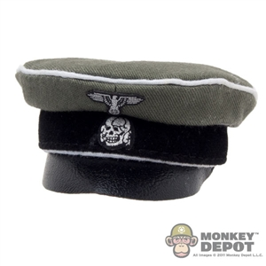 Hat: DiD German WWII SS Officer Visor Cap