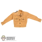 Shirt: DiD German WWII Light Brown White Piped