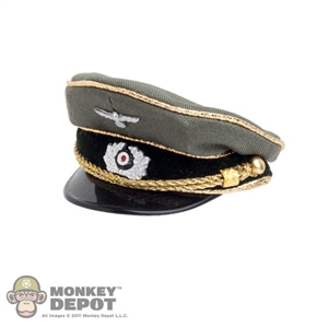 Hat: DiD German WWII Officer Visor Cap