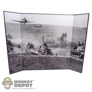"Display: DiD Black & White War Zone Backdrop (21"" X 13.5"")"
