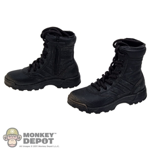 Boots: DiD Black Black SWAT Zip Boots