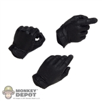 Hands: DiD Black Tactical Gloved Hand Set