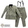 Uniform: DiD German WWII M36 Officer Uniform w/Insignia & Suspenders