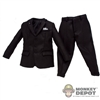 Suit: DiD 3 Button Black Suit