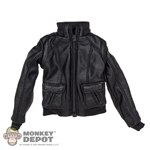 Coat: DiD Female Black Leather Jacket
