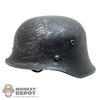 Helmet: DiD German WWII Weathered Metal Helmet