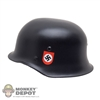Helmet: DiD German WWII SS Double Decal Metal
