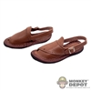 Shoes: DiD Brown Leather Sandals