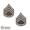 Insignia: DiD WWII US Staff Sergeant Chevrons (Peel & Stick)
