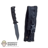 Knife: DiD Black Pup Elite Fixed Knife w/Sheath