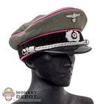 Hat: DiD German Officer Visor Cap w/Pink Piping