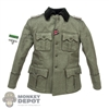 Tunic: DiD German WWII M36 Tunic w/Insignia (Slightly Weathered)