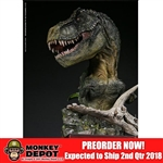 Statue: DamToys Museum Collection Series - Bust Green T-Rex (MUS001B)