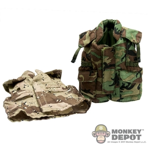 Fatigues: DAM PASGT Flat Jacket w/ Desert Cam Cover