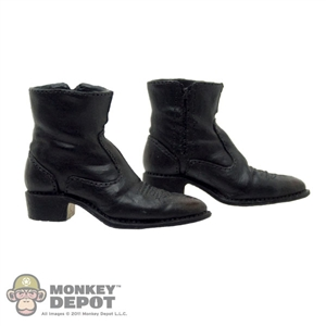 Boots: DAM Side Zip Dress Black (Ankle Balls Included)