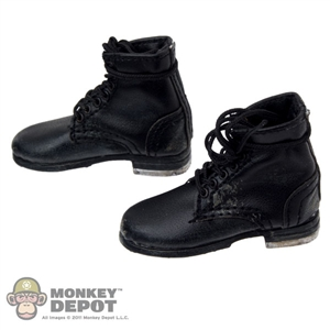 Boots: DamToys German WWII Black Boots Weathered