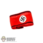 Armband: DamToys German WWII Swastika Black Stripes